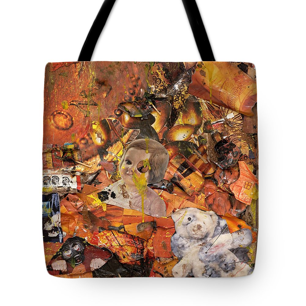 Penny Tote Bag featuring the mixed media Penny And A Cigarette by Jaime Becker