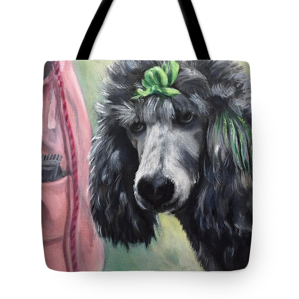 Penny Tote Bag featuring the painting French Poodle by FayBecca