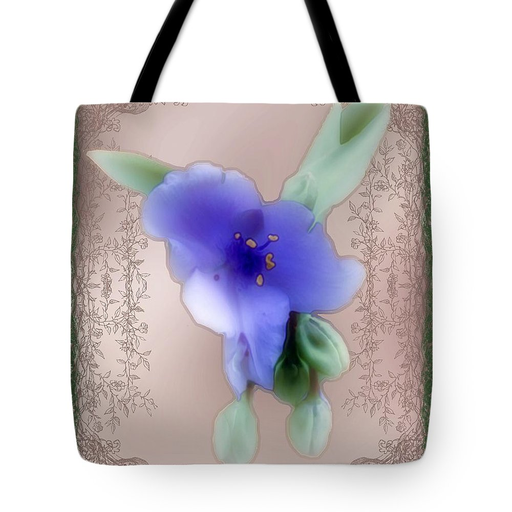 Blossoms Tote Bag featuring the painting Penny Postcard Wildflower by RC DeWinter