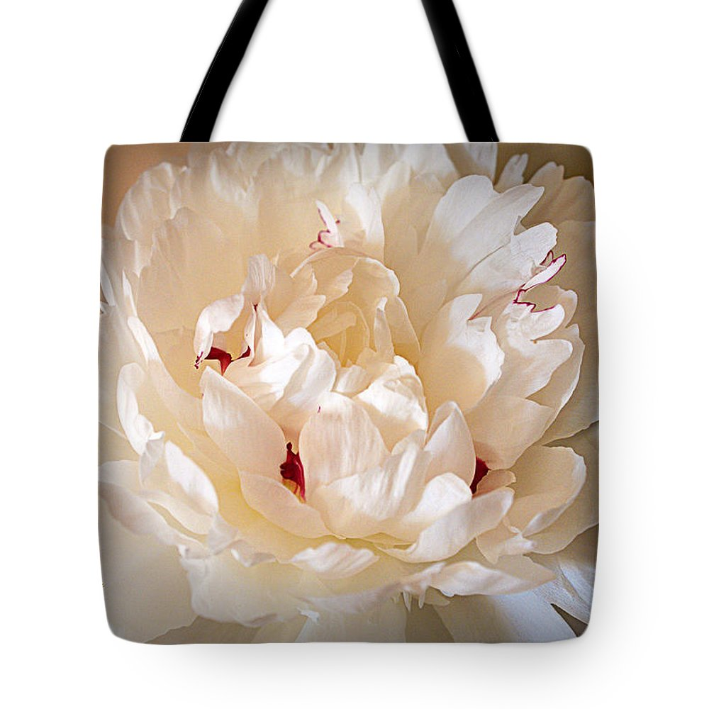 Peony Tote Bag featuring the photograph Peony by Cricket Hackmann