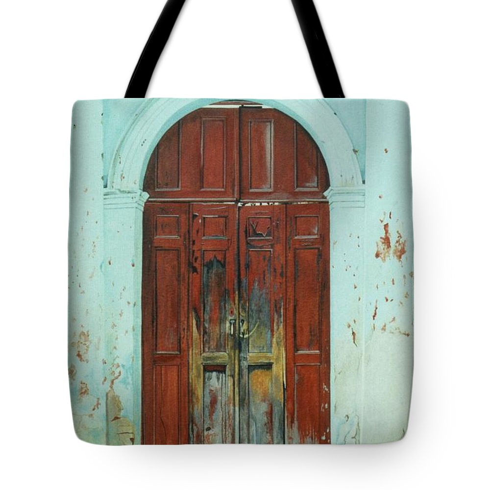 Hyperrealism Tote Bag featuring the painting Peonza Perdida by Michael Earney