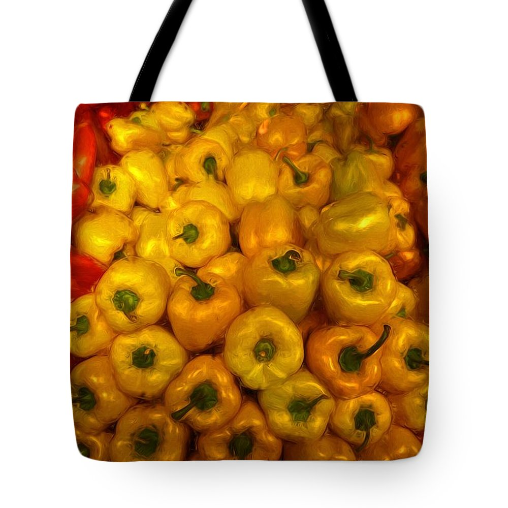 Peppers Tote Bag featuring the photograph Pepper Colors by Alice Gipson