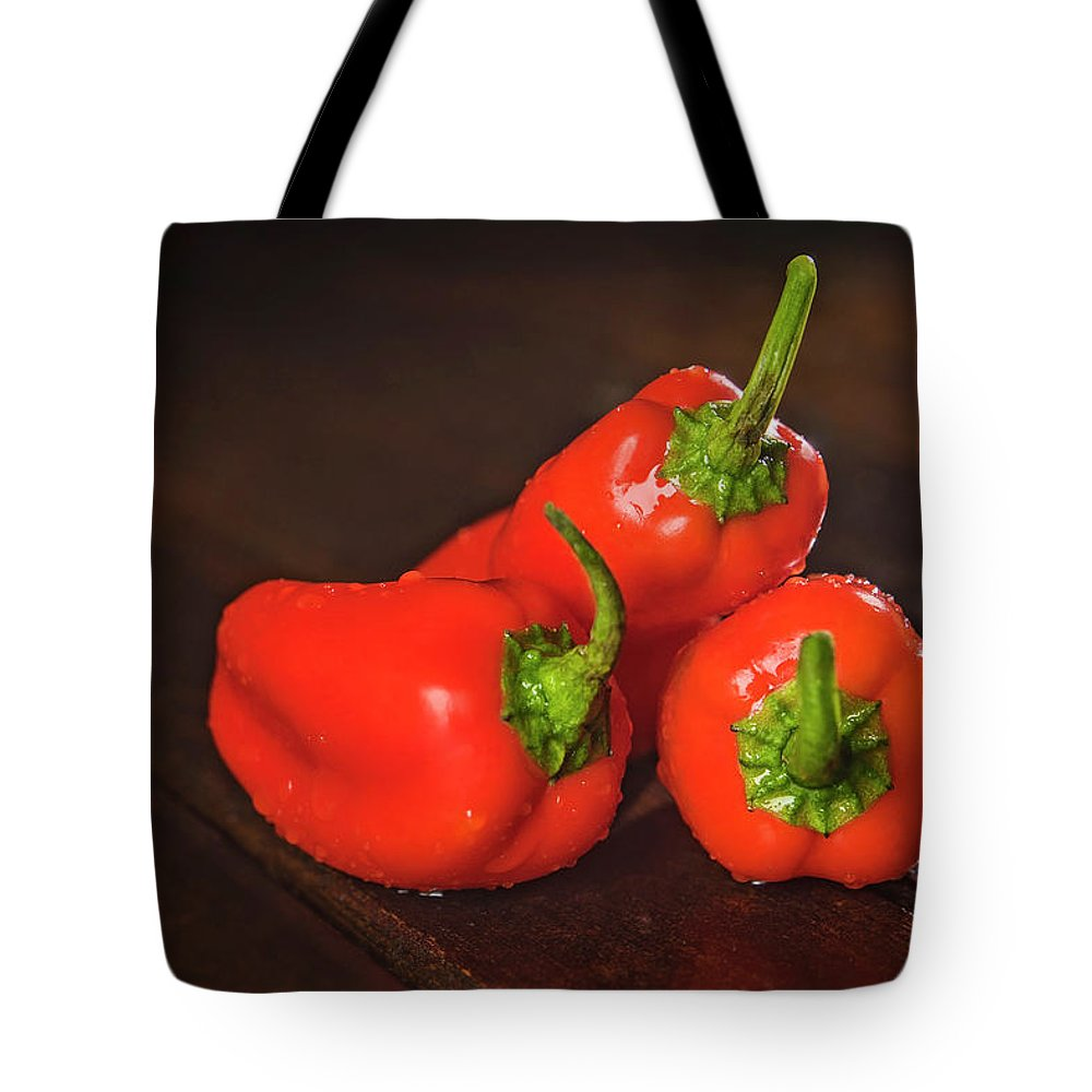 Vegetable Tote Bag featuring the photograph Pepper Medley by Elizabeth Wilson