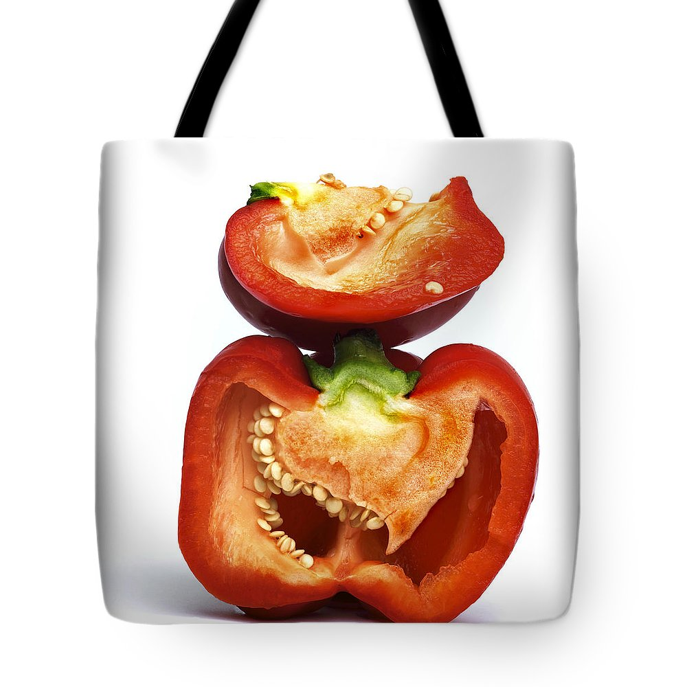 Peppers Tote Bag featuring the photograph Peppers by Bernard Jaubert