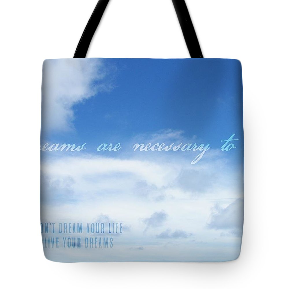 Blue Tote Bag featuring the photograph Perfect Day Quote by JAMART Photography