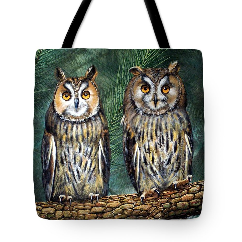 Wildlife Tote Bag featuring the painting Perfect Strangers by Frank Wilson