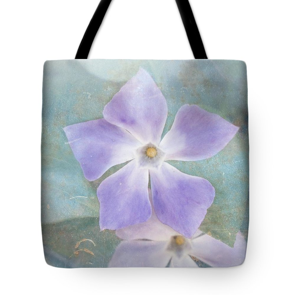 Periwinkle Tote Bag featuring the photograph Periwinkle Stars by Cindy Garber Iverson