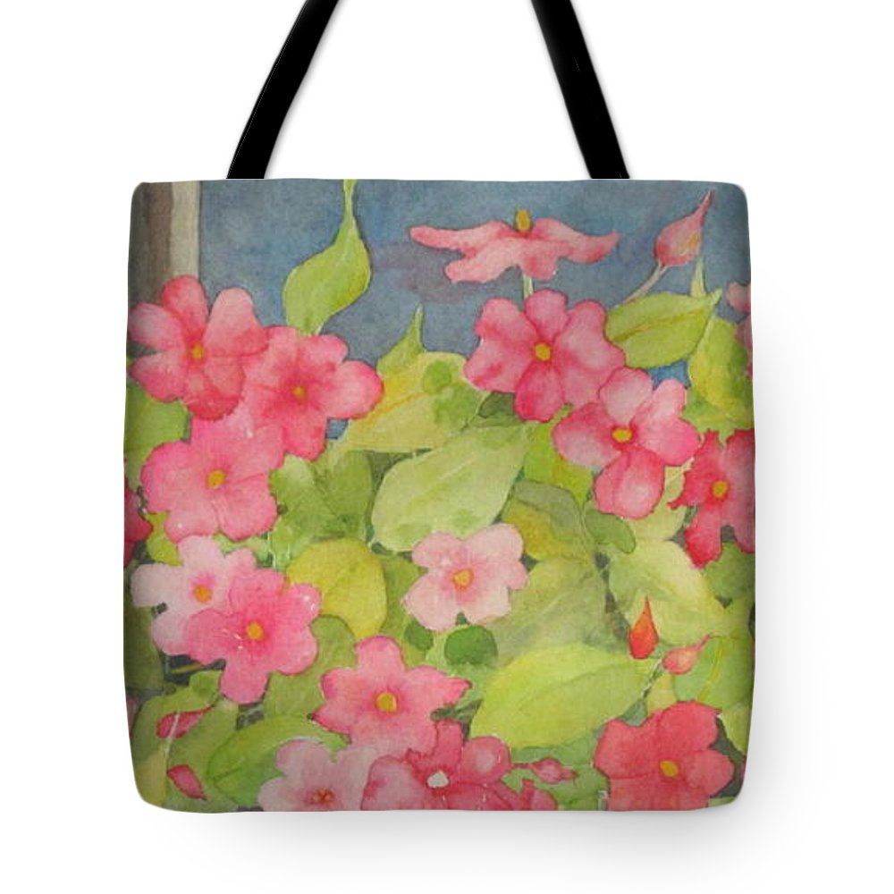 Flowers Tote Bag featuring the painting Perky by Mary Ellen Mueller Legault