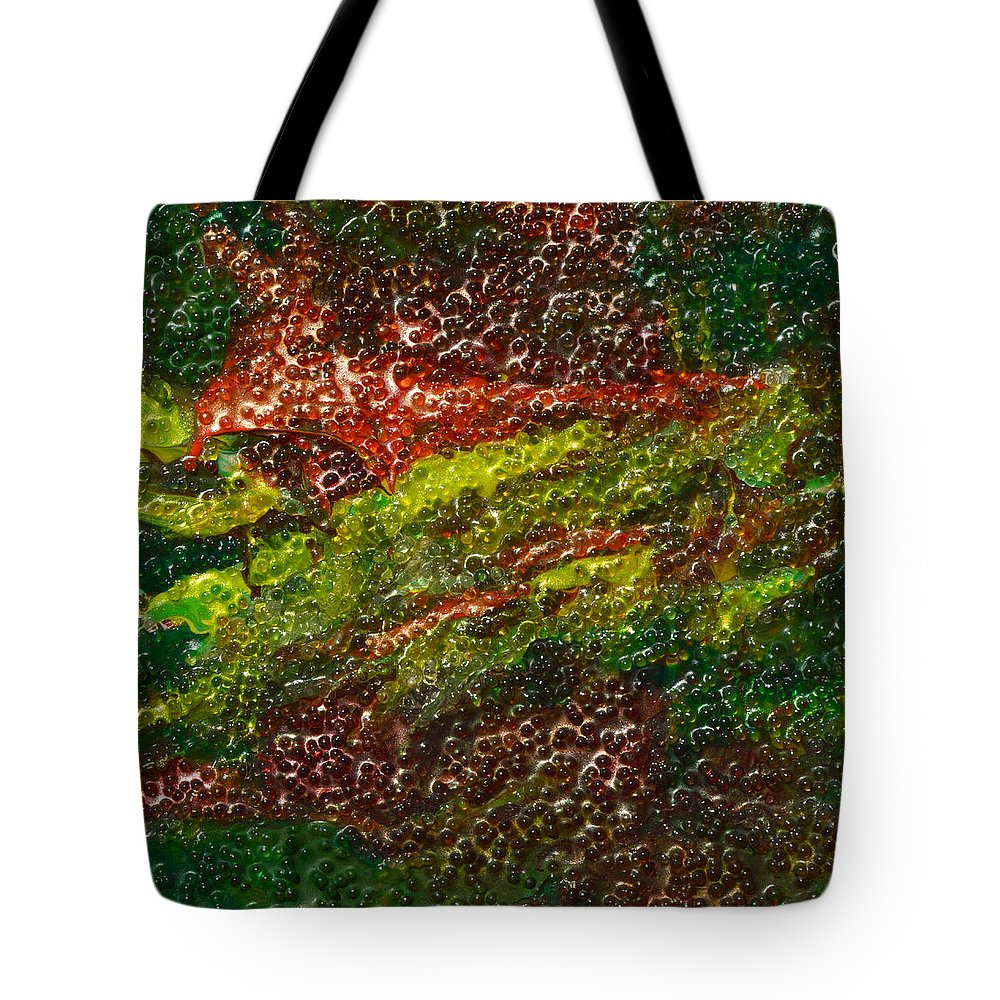Modern Tote Bag featuring the mixed media Permafrost by Donna Blackhall