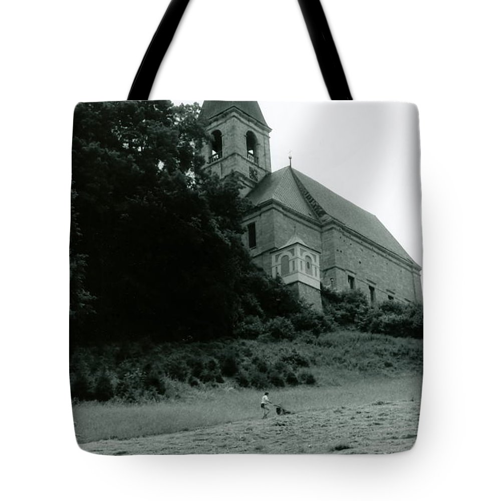 Church Tote Bag featuring the photograph Perseverance by Michelle Calkins