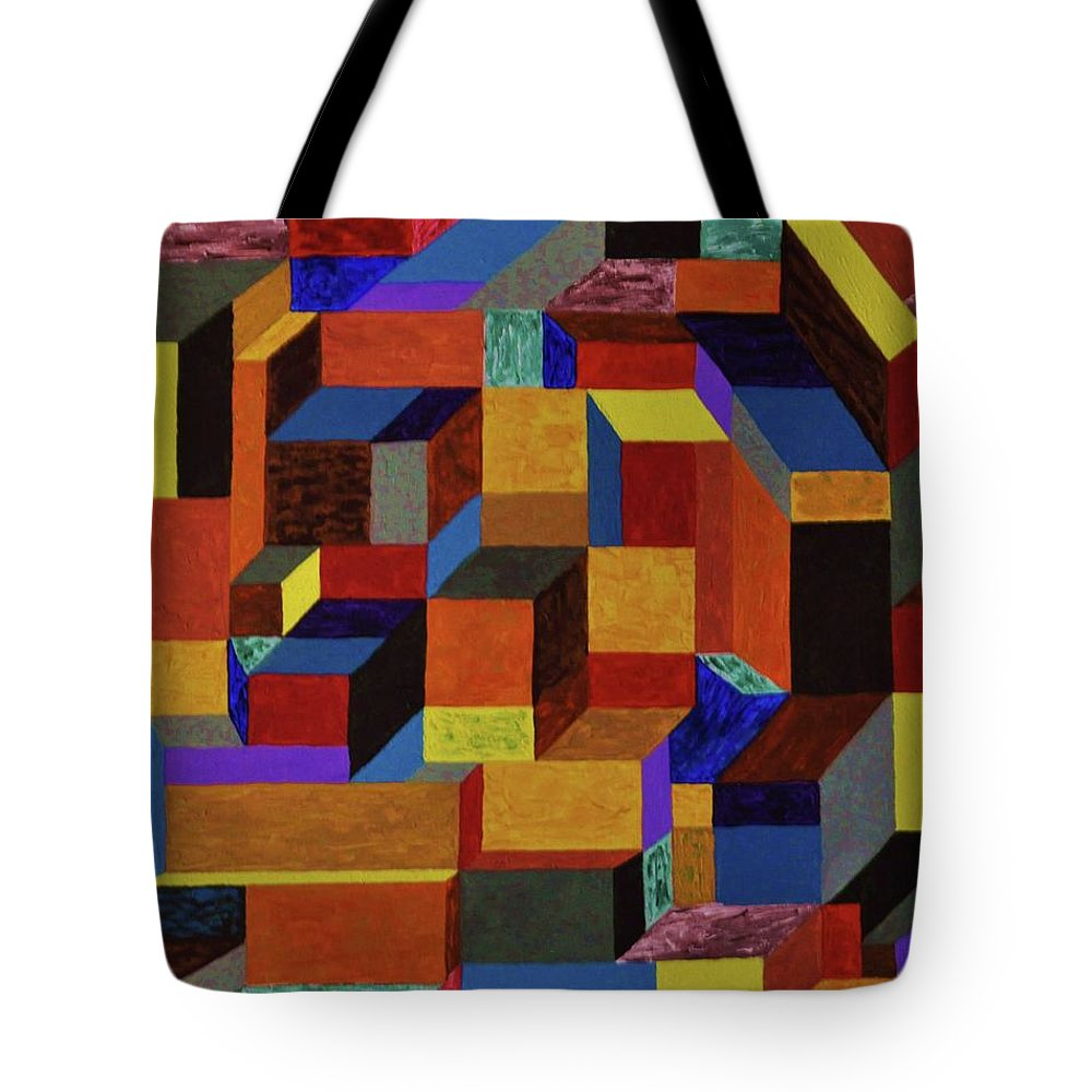 Angles Tote Bag featuring the painting Perspective by Colleen Gerlach
