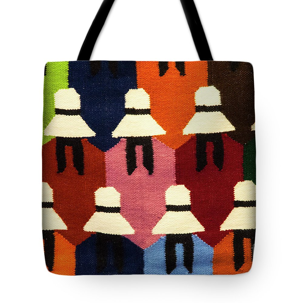 Pisac Market Tote Bag featuring the photograph Peru Hat Tapestry by Bob Phillips
