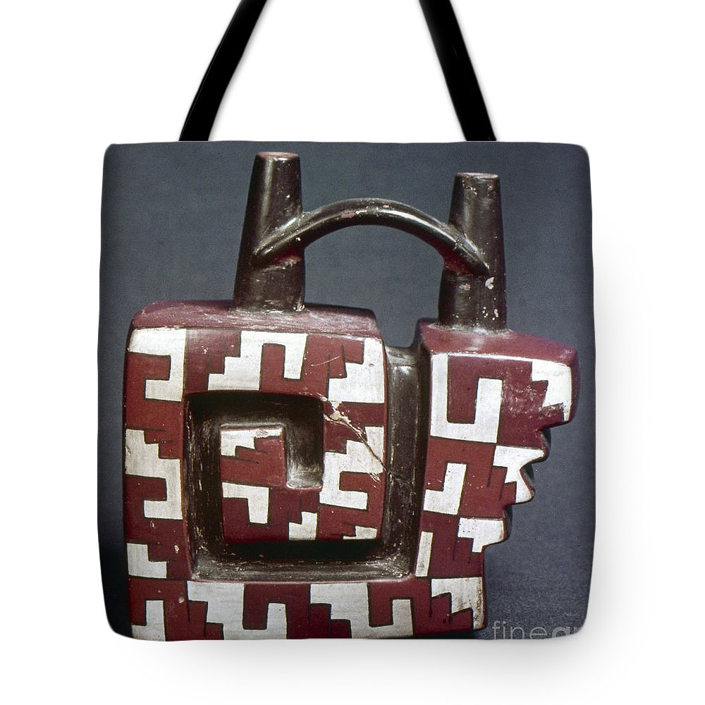 Ancient Tote Bag featuring the photograph Peru: Pre-columbian Vessel by Granger