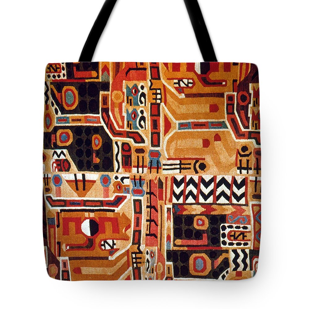 12th Century Tote Bag featuring the photograph Peru: Tunic Fragment by Granger