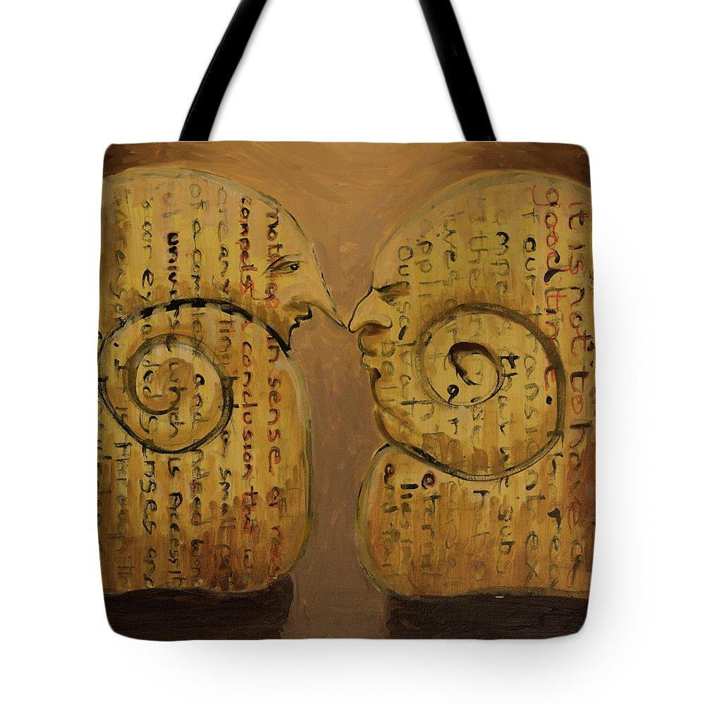 Pessimist Tote Bag featuring the painting Pessimist Optimist by Craig Newland