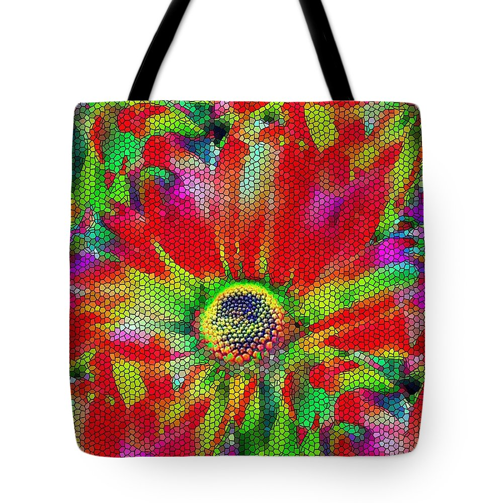 Abstract Tote Bag featuring the photograph Petal Power by Tim Allen