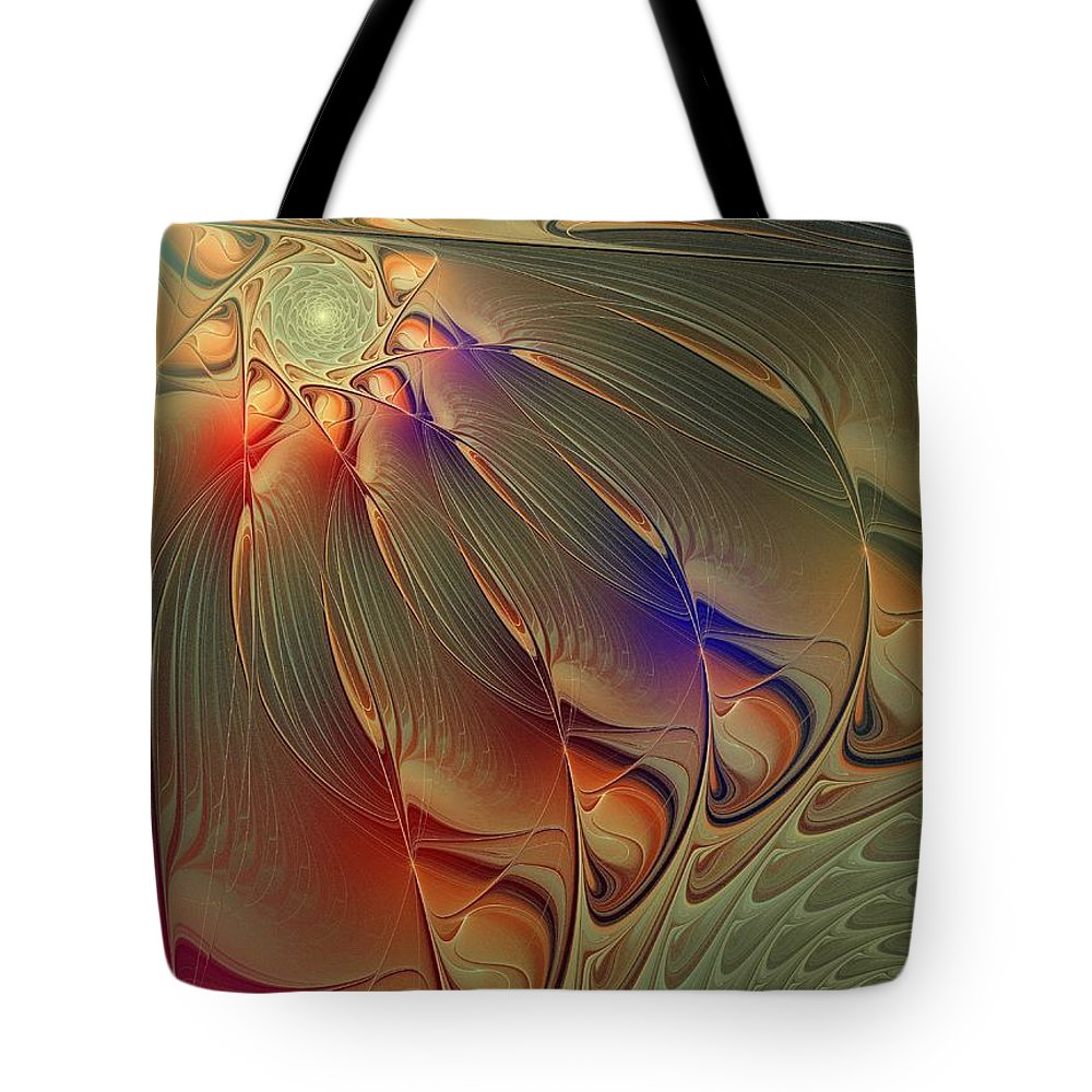 Digital Art Tote Bag featuring the digital art Petalia by Amanda Moore