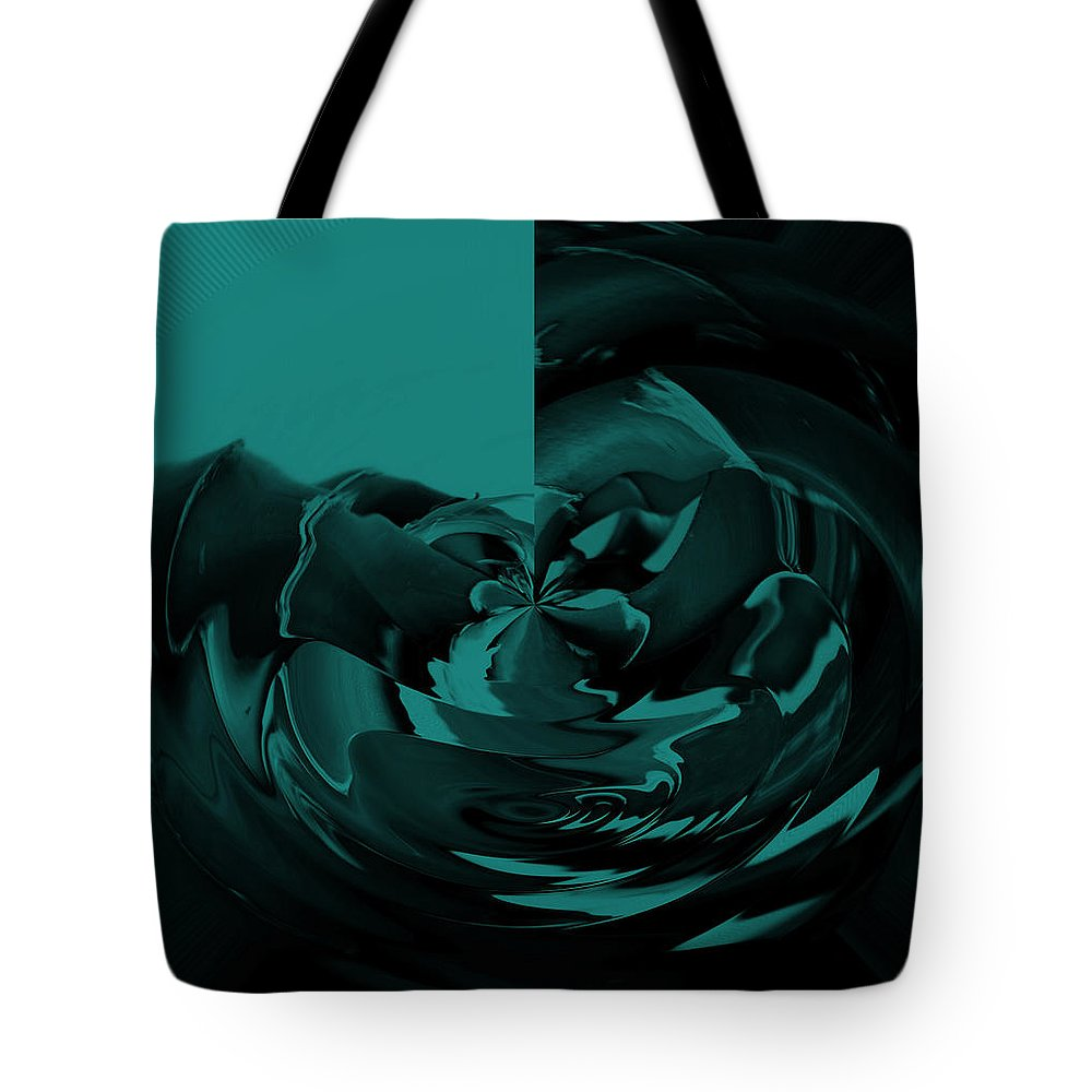 Abstract Tote Bag featuring the digital art Petals by Lenore Senior