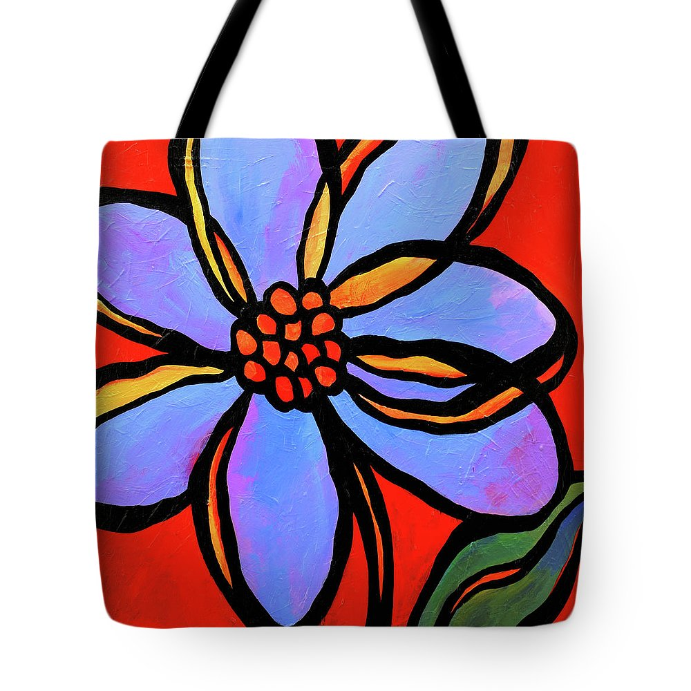 Flowers Tote Bag featuring the painting Petals by Mike Daneshi