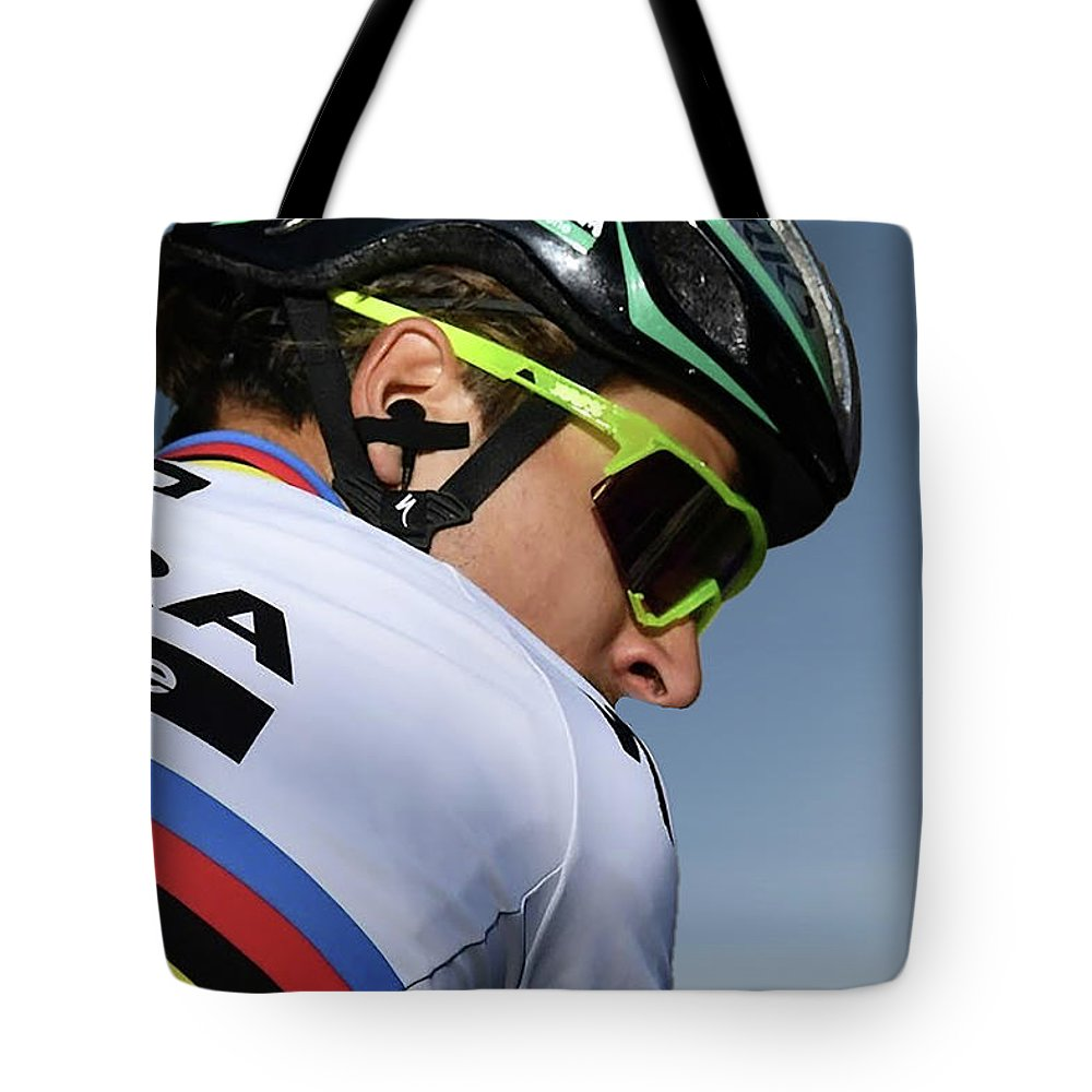 Peter Sagan Tote Bag featuring the photograph Peter Sagan 13 by Smart Aviation