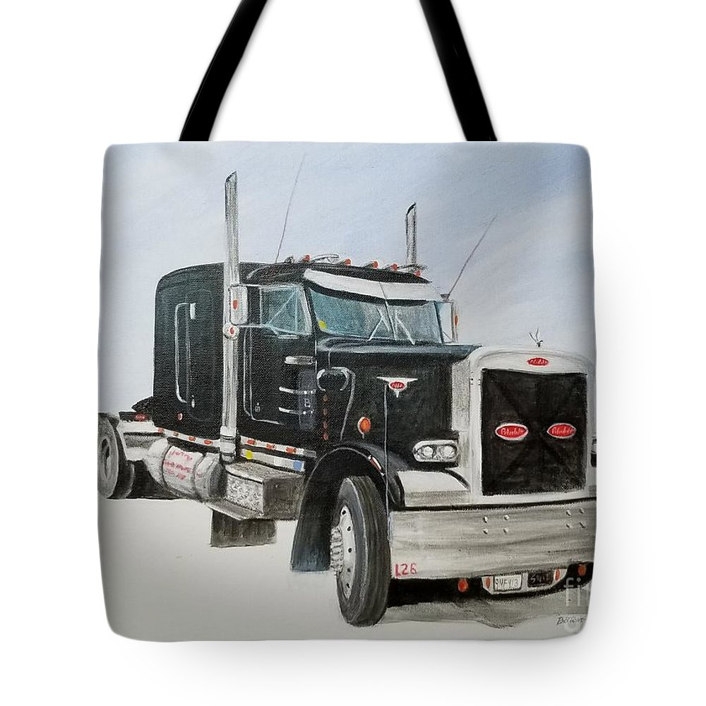 Peterbilt Tote Bag featuring the painting Peterbilt by Stacy C Bottoms