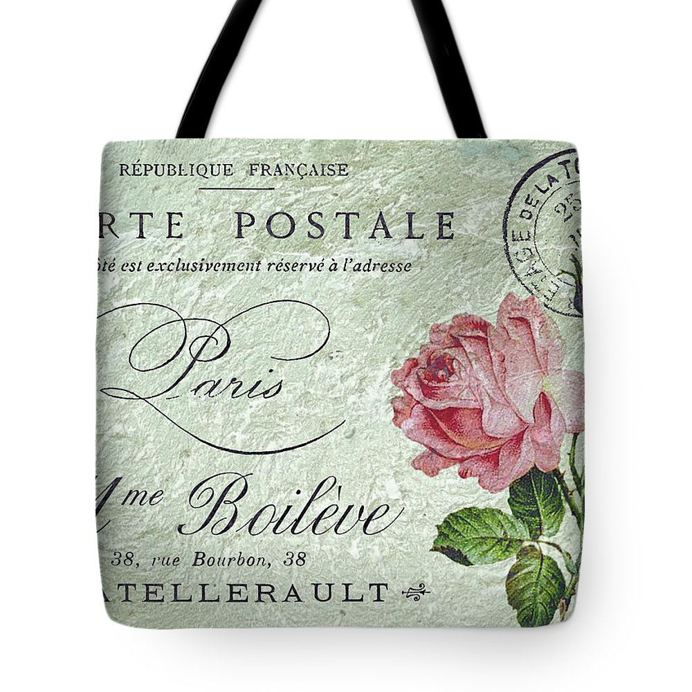 Pink Roses Tote Bag featuring the digital art Petit Rose Confection by Sarah Vernon
