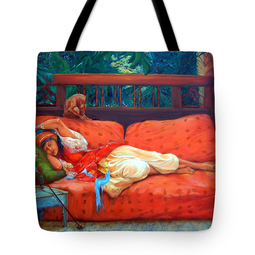 Figurative Art Tote Bag featuring the painting Petite Somme After A. Bridgman by Portraits By NC