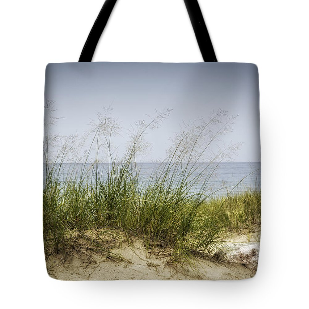 Michigan Tote Bag featuring the photograph Petoskey Park Dunes by Timothy Hacker