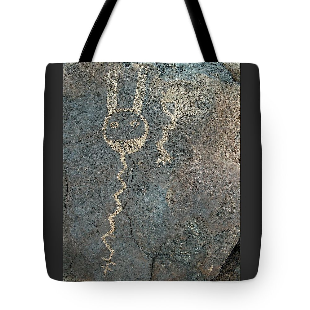 Petroglyph Tote Bag featuring the photograph Petroglyph Series 1 by Tim McCarthy