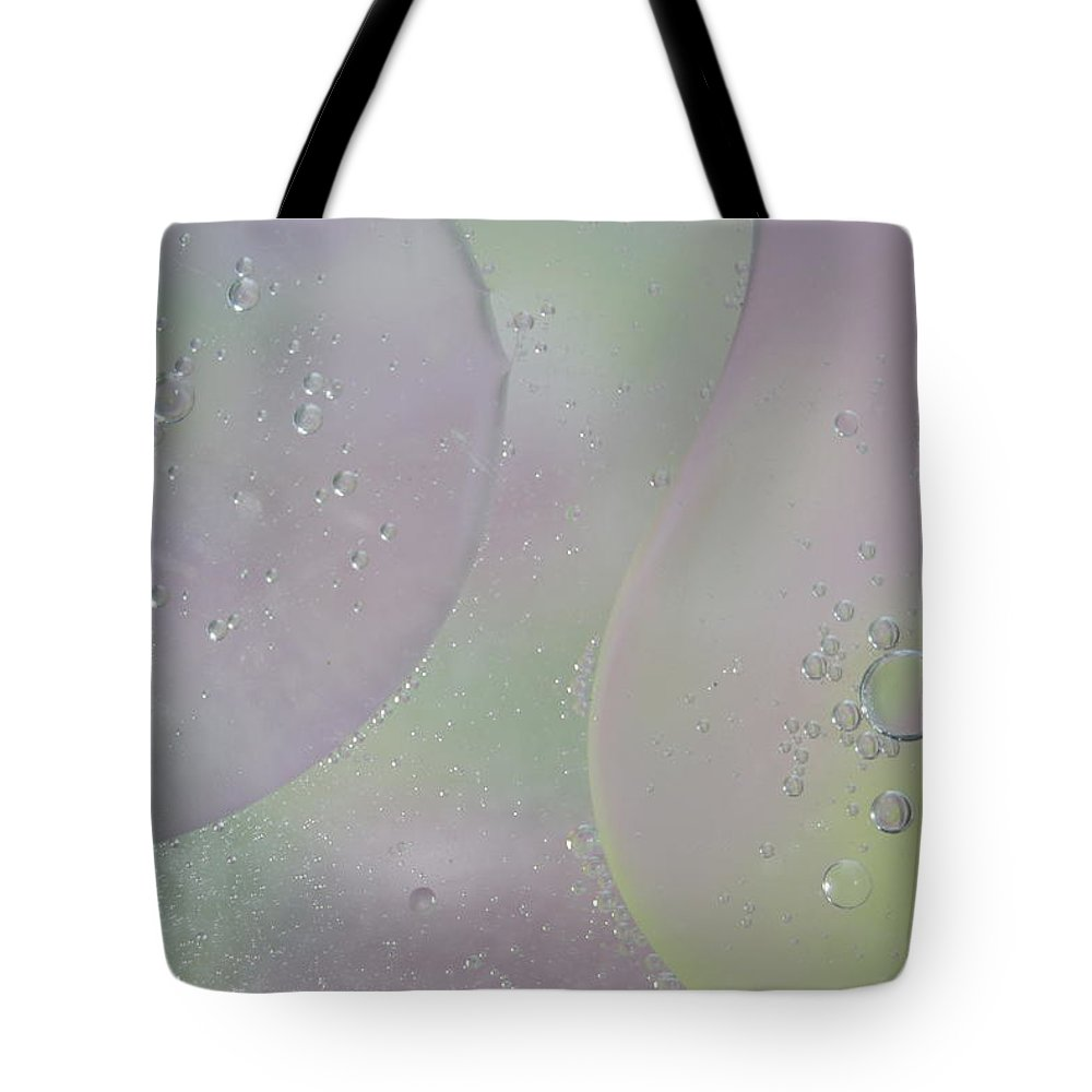 Abstract Tote Bag featuring the photograph Phagocytosis by Michael Peychich