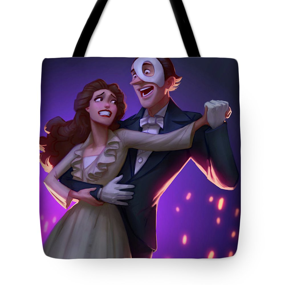 Musical Tote Bag featuring the digital art Phantom by Adam Ford