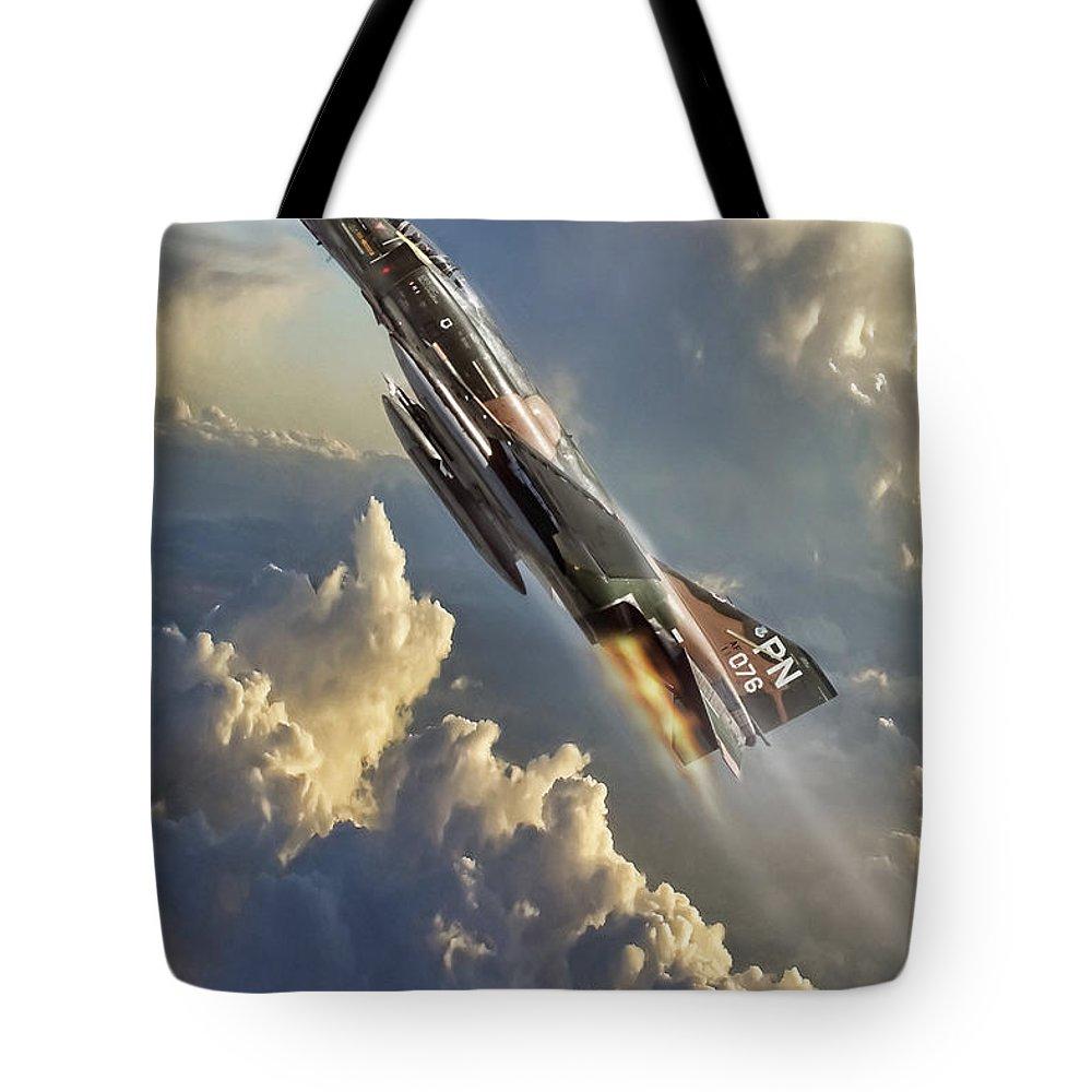 F-4 Digital Art Tote Bags