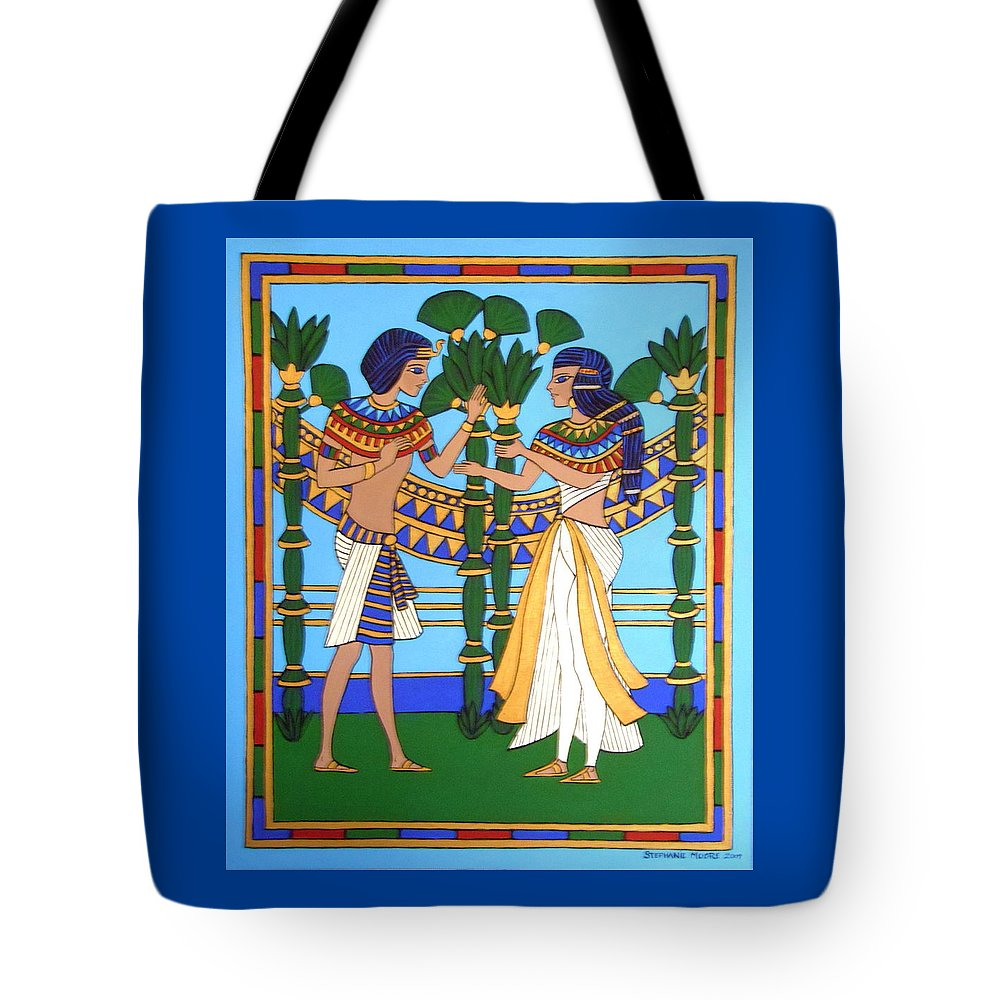 Pharaoh Tote Bag featuring the painting Pharaoh by Stephanie Moore