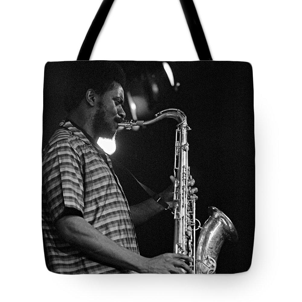 Pharoah Sanders Tote Bag featuring the photograph Pharoah Sanders 2 by Lee Santa