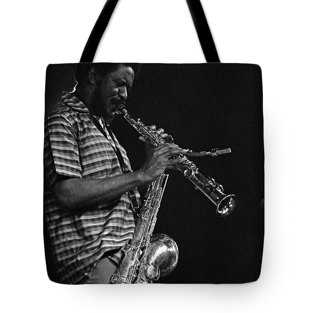 Pharoah Sanders Tote Bag featuring the photograph Pharoah Sanders 4 by Lee Santa