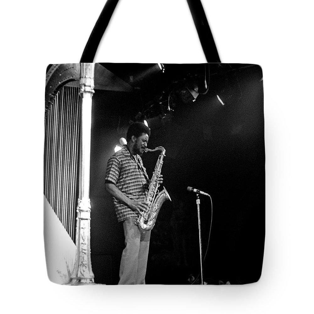 Pharoah Sanders Tote Bag featuring the photograph Pharoah Sanders 5 by Lee Santa