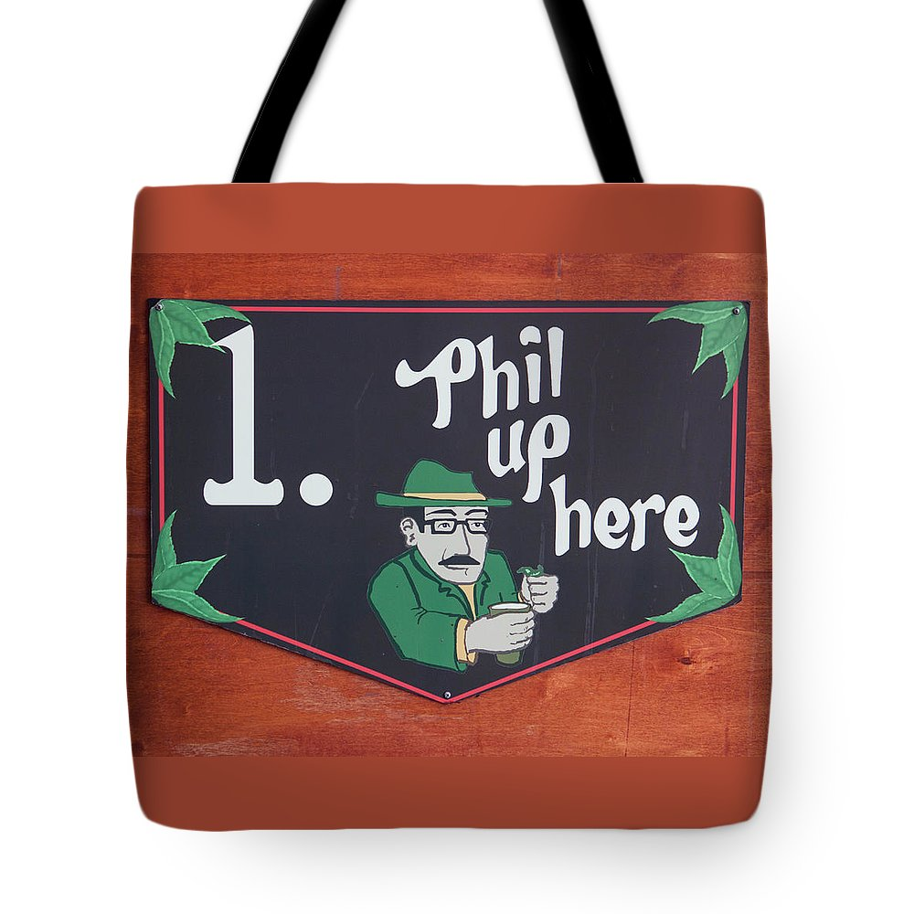 Photograph Tote Bag featuring the photograph Phil Up Here by Suzanne Gaff