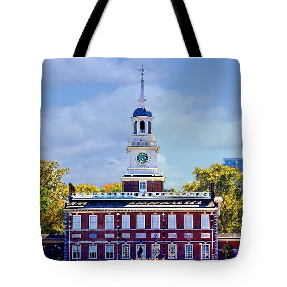 Philly Tote Bag featuring the photograph Philadelphia Landmark by DJ Florek