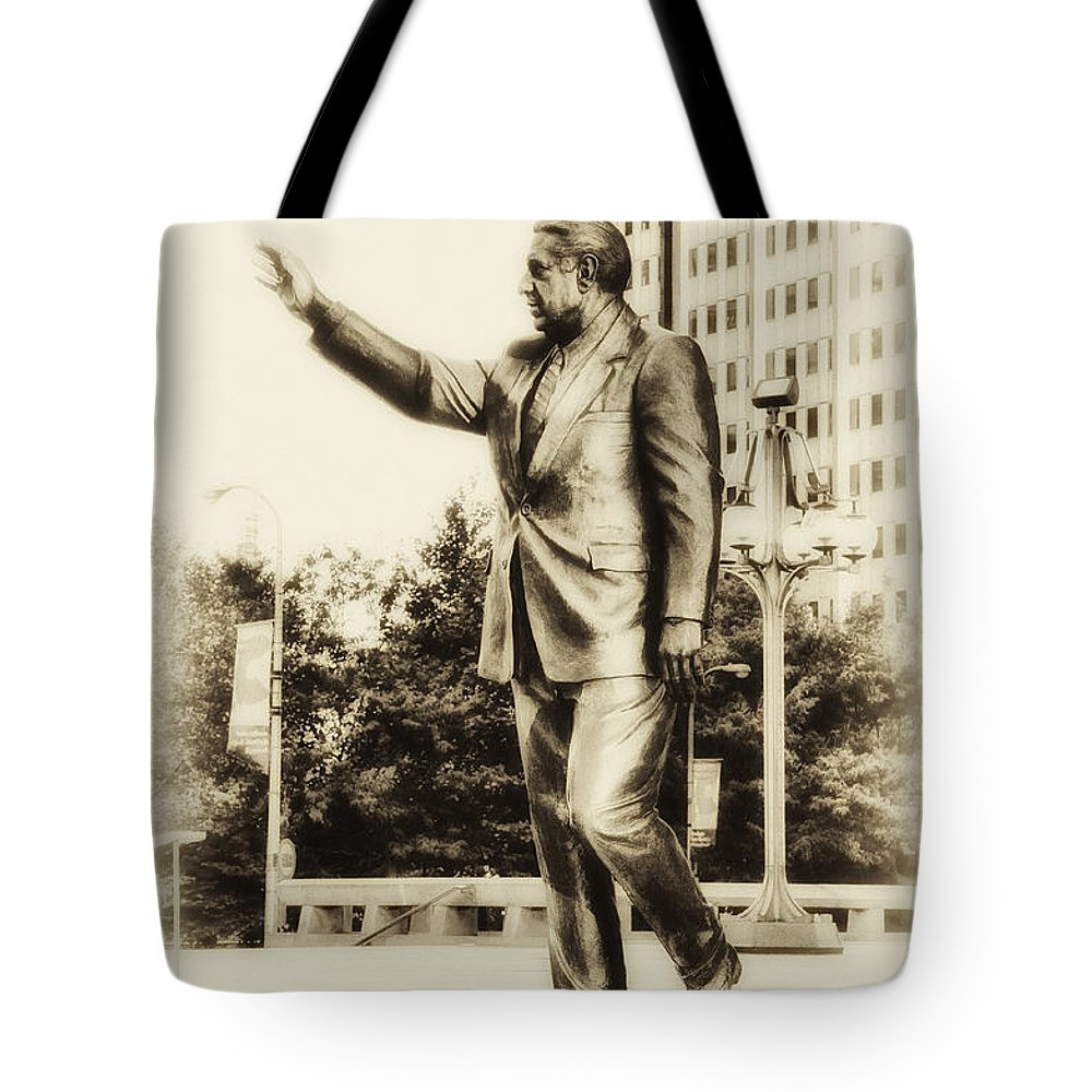 Mayor Tote Bag featuring the photograph Philadelphia Mayor - Frank Rizzo by Bill Cannon