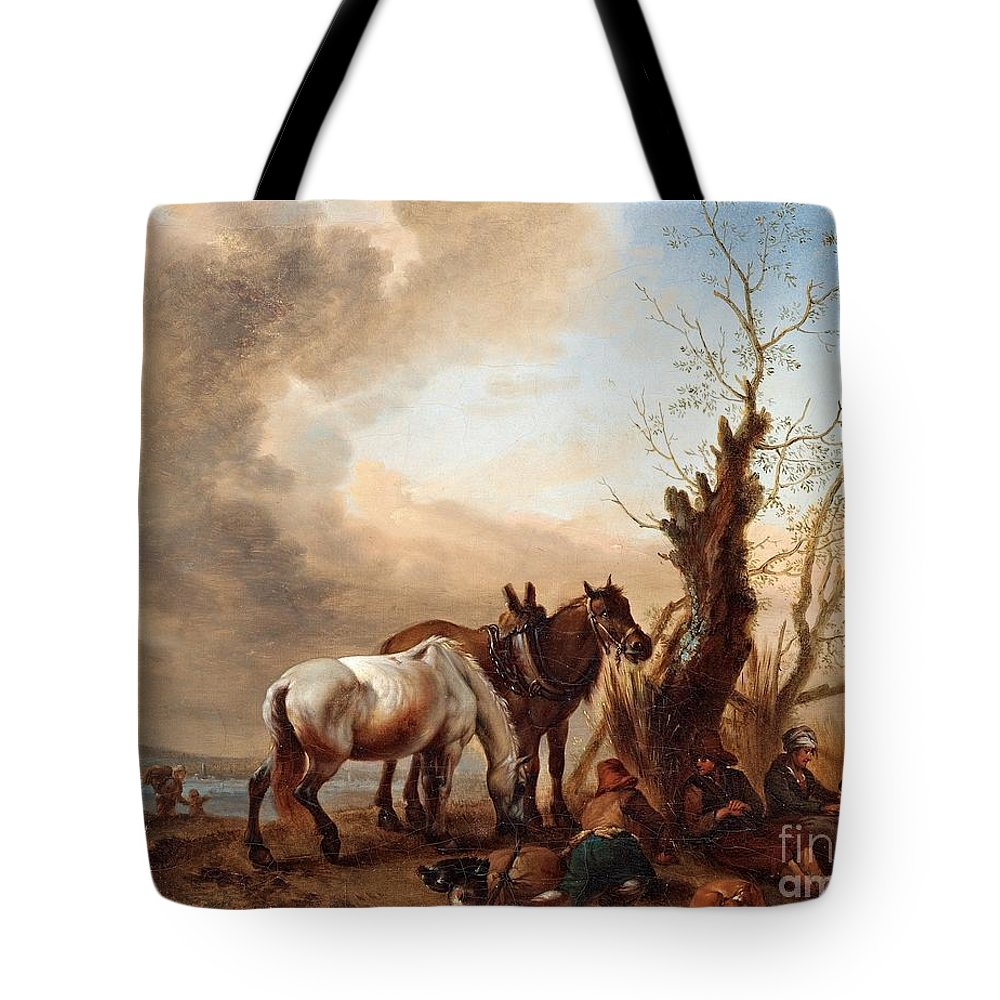 Philips Wouwerman Follower Of Tote Bag featuring the painting Philips Wouwerman by MotionAge Designs