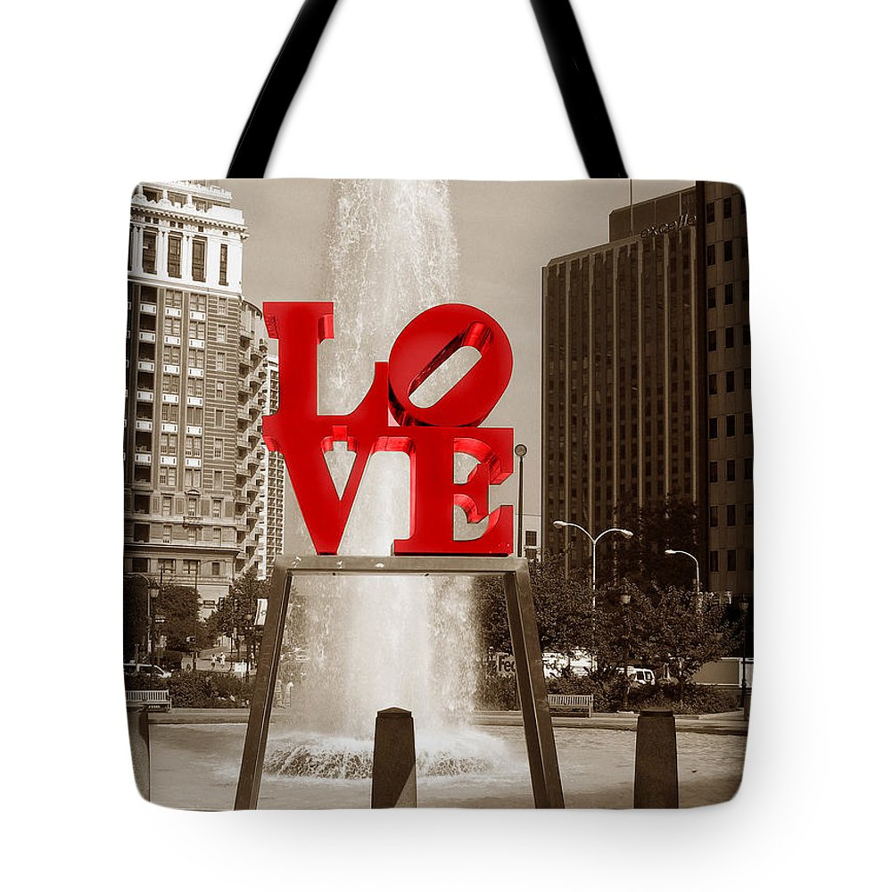 Love Tote Bag featuring the photograph Philly Love by Skip Willits