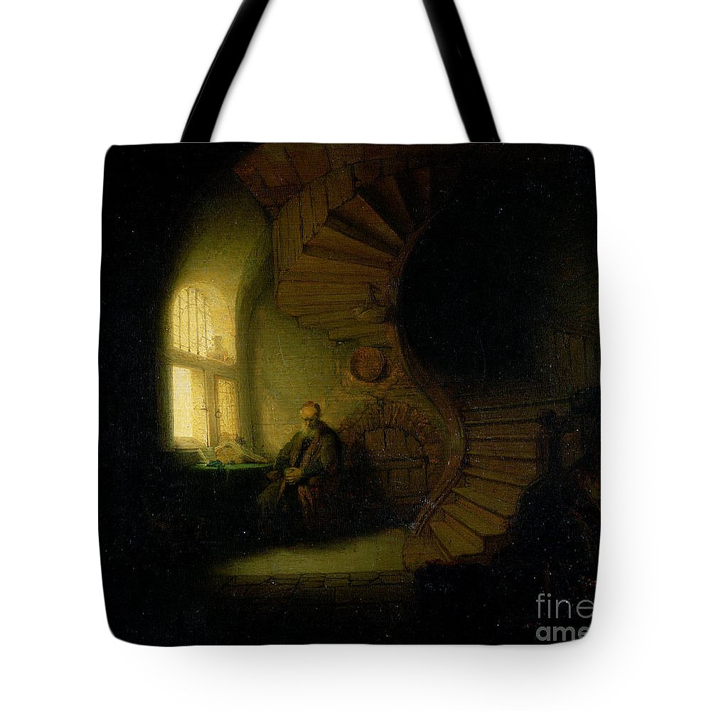 Spiral Staircase Tote Bags