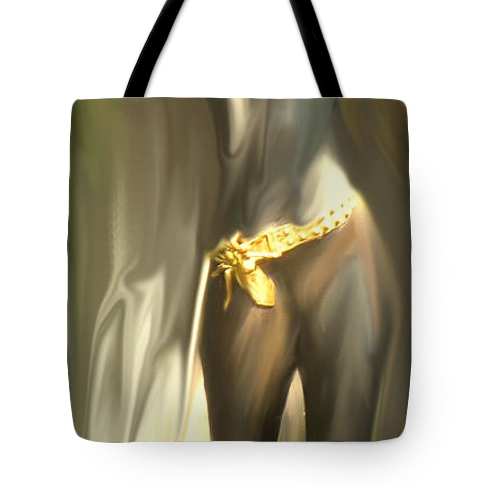 Abstract Tote Bag featuring the digital art Phoenix Rising by Ian MacDonald