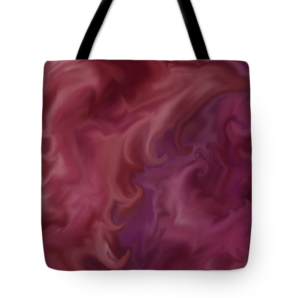 Fantasy Tote Bag featuring the painting Phoenix Rising by Anne Norskog
