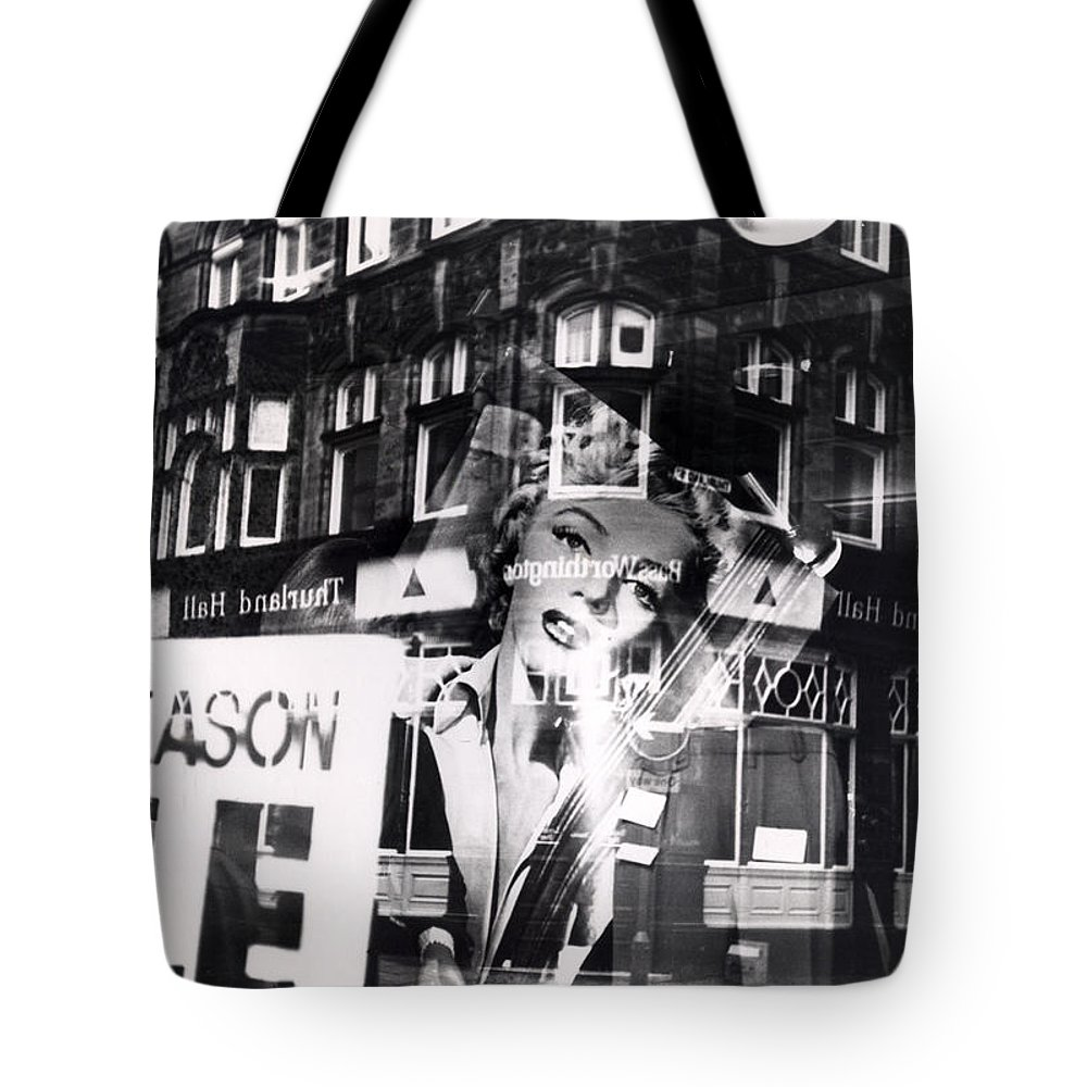 Marilyn Tote Bag featuring the photograph Photograph Of Marilyn by Charles Stuart
