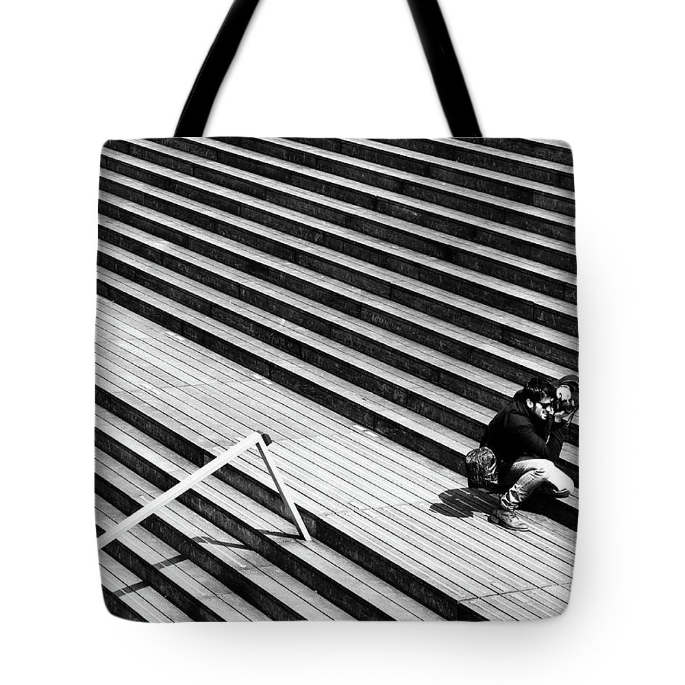 Street Tote Bag featuring the photograph Photographer In Paris by Jean-Philippe Jouve