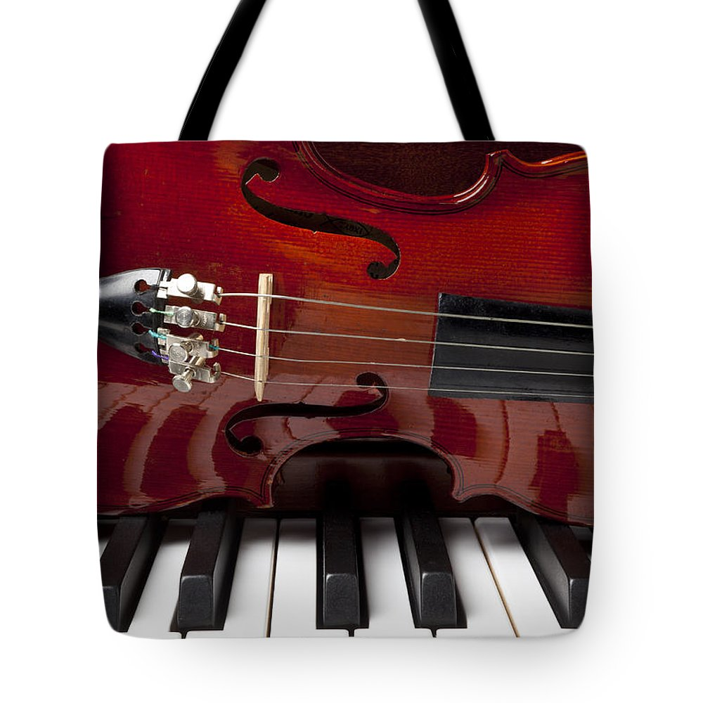 Violin Tote Bag featuring the photograph Piano Reflections by Garry Gay
