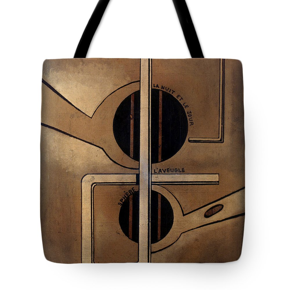 1917 Tote Bag featuring the photograph Picabia: Cest Clair, C1917 by Granger