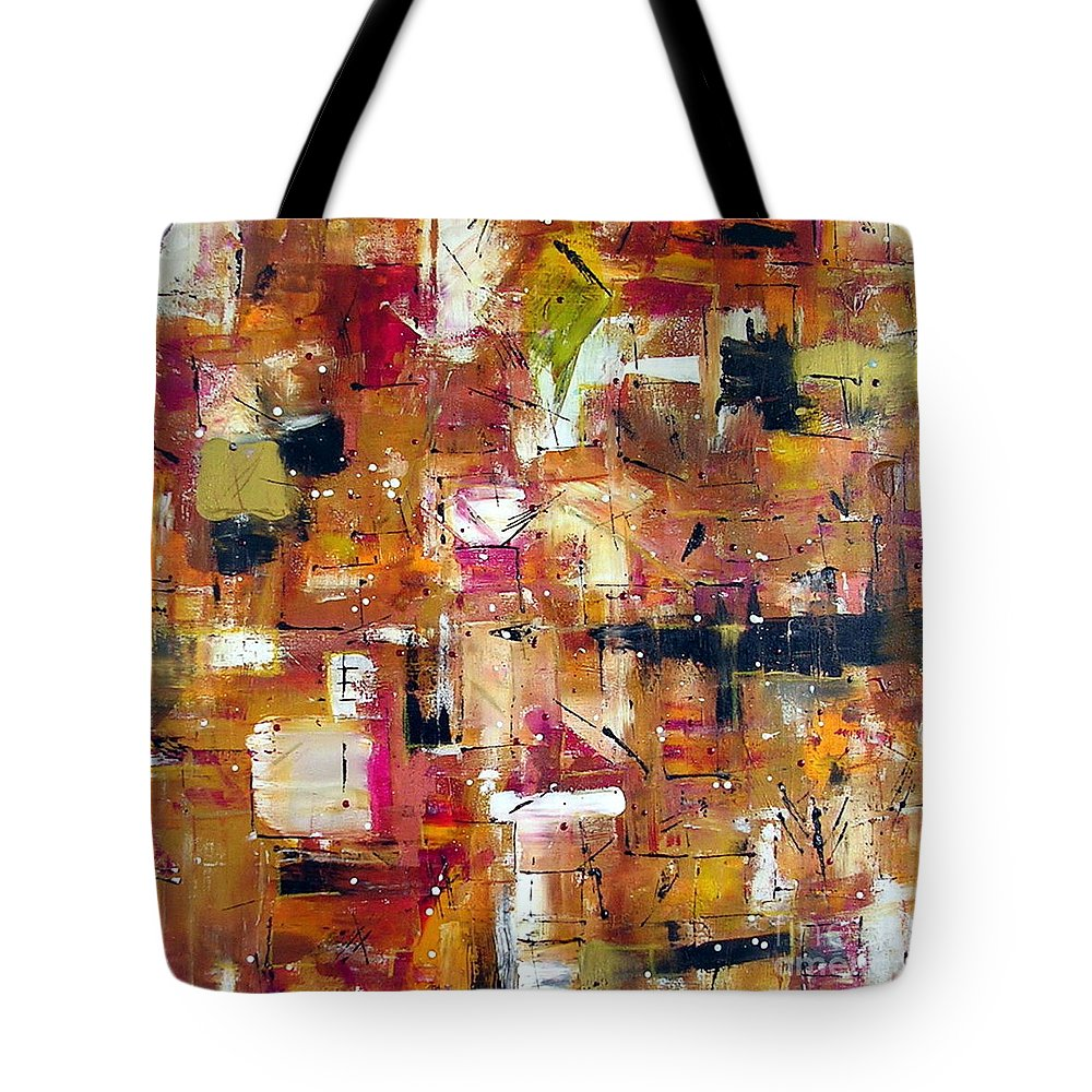 Picante Tote Bag featuring the painting Picante by Dawn Hough Sebaugh