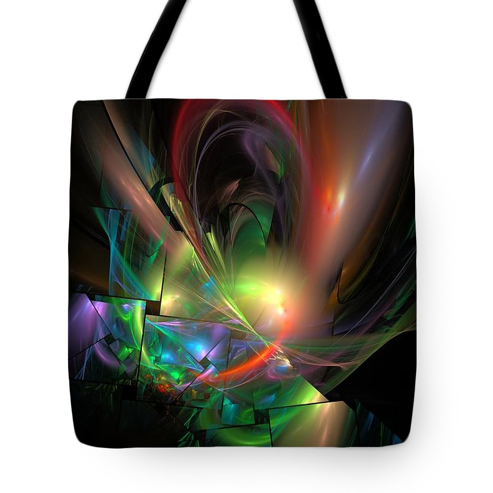 Fantasy Tote Bag featuring the digital art Picassoractal by David Lane